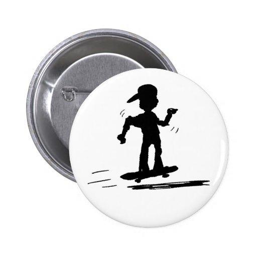 Skater Kid - nd Pinback Buttons