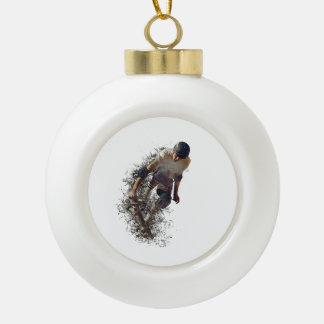 Skater Park Sport Ceramic Ball Ornament