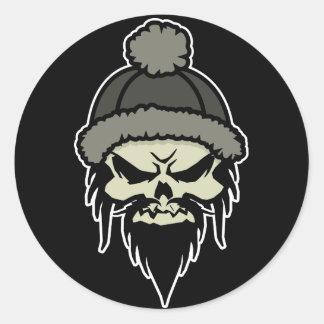 Skater Skull Sticker