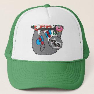 Skater Sloth loves donut Trucker Hat