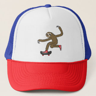 Skater Sloth Trucker Hat