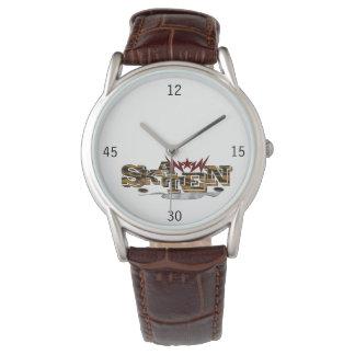 Skater Spirit gentleman clock with brown leather Watch