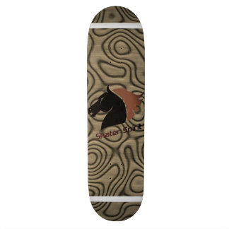 """Skater Spirit "" symbol/skateboard in brown Skateboard Deck"
