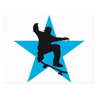 Skater star C 2C Postcard