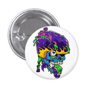 Skater zombie. 1 inch round button