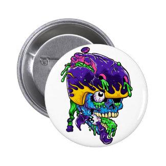 Skater zombie. 2 inch round button