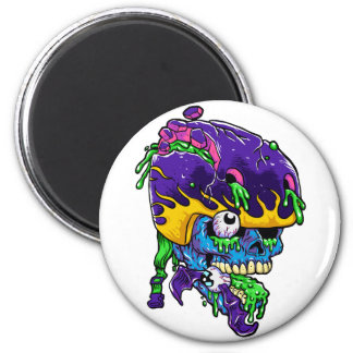 Skater zombie. 2 inch round magnet