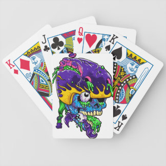 Skater zombie. bicycle playing cards