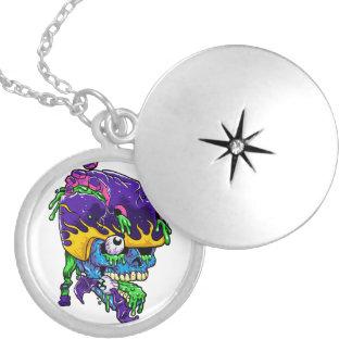 Skater zombie. locket necklace