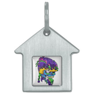 Skater zombie. pet ID tag