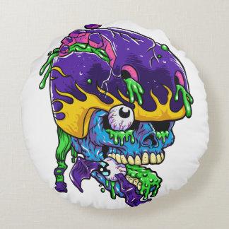 Skater zombie. round pillow