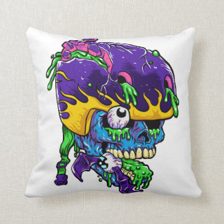 Skater zombie. throw pillow