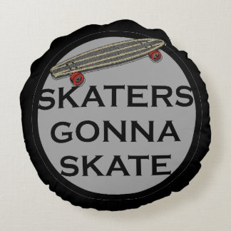 Skaterboarders Round Pillow