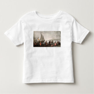 Skaters and a golf party on the ice toddler t-shirt