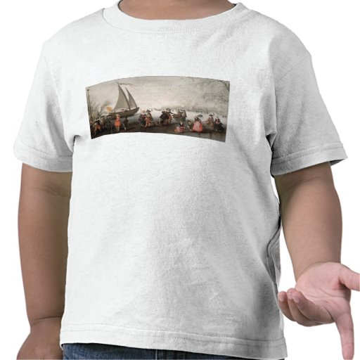 Skaters and a golf party on the ice tee shirt