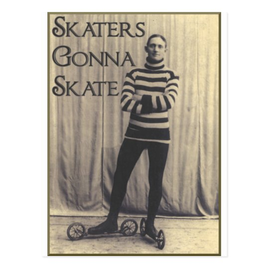 Skaters Gonna Skate... Postcard