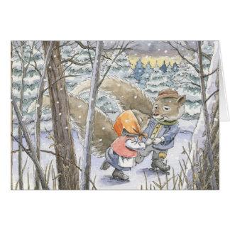 """Skaters Waltz"" Christmas Card"