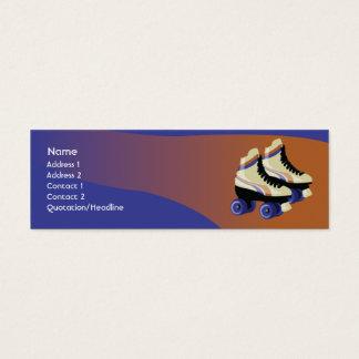 Skates - Skinny Mini Business Card