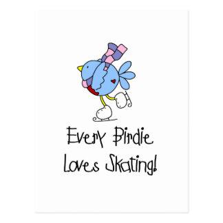 Skating Birdie Tshirts and Gifts Post Card