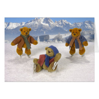 Skating Dinky Bears Card