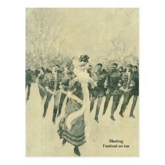 Skating, Festival on Ice, Postcard