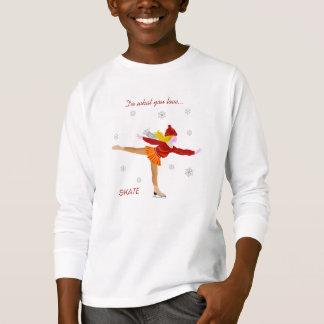 Skating Girl Kid's T-Shirt