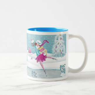 Skating Girl - two tone mug