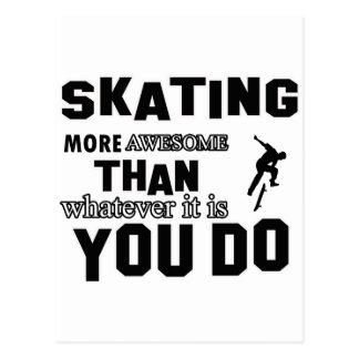 skating  more awesome postcard