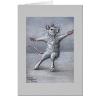 Skating on Ice Rat Card