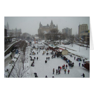 Skating on the Rideau Canal Card