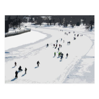 Skating on the Rideau Canal - Postcard