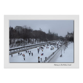 Skating on the Rideau Canal Poster