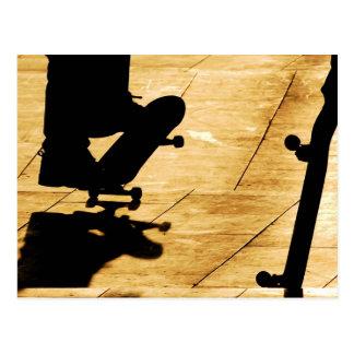Skating Postcard