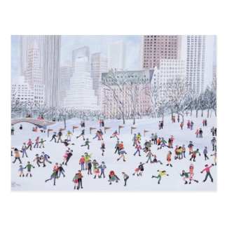 Skating Rink Central Park New York 1994 Postcard
