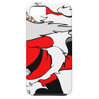 Skating Santa Claus on Christmas iPhone 5 Cases