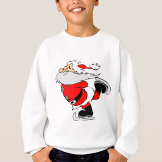 Skating Santa Claus on Christmas Sweatshirt