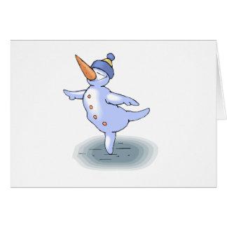 Skating Snowman Card