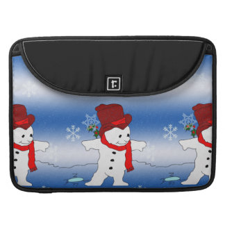 Skating Snowman in red Sleeves For MacBook Pro