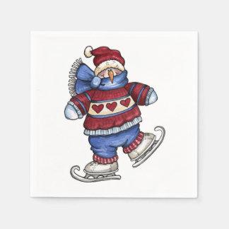 Skating Snowman - Paper Napkins