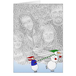 Skating Snowmen 2 Card