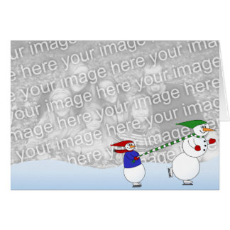 Skating Snowmen Card