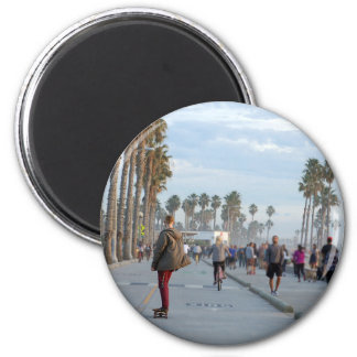 skating to venice beach magnet