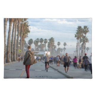 skating to venice beach placemat