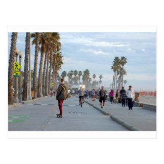 skating to venice beach postcard