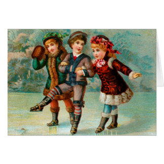 Skating Trio Greeting Card