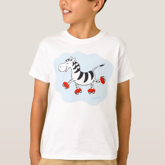 Skating Zebra T-Shirt