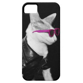 Skeezix the Cat iPhone5 Case - Biker Cat in Shades