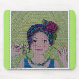 Skein Head Mouse Pad