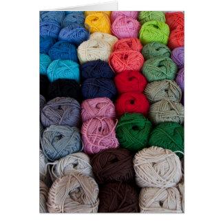 Skeins of yarn card