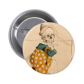 Skeletal Clown 2 Inch Round Button